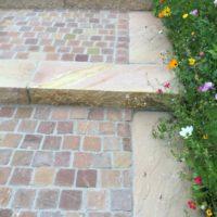 Porphyr-Pflaster |Sandstein-Stufen